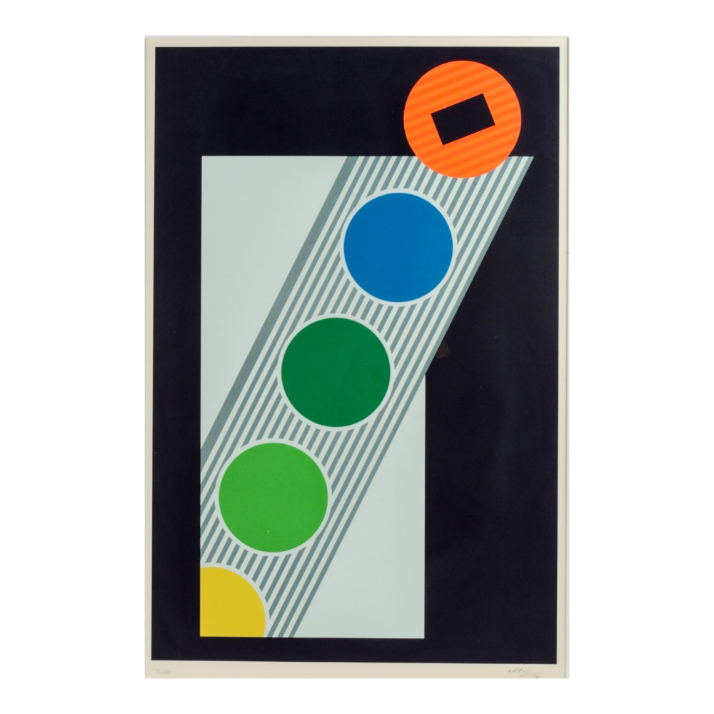 Michael Argov Limited Edition Abstract Lithograph