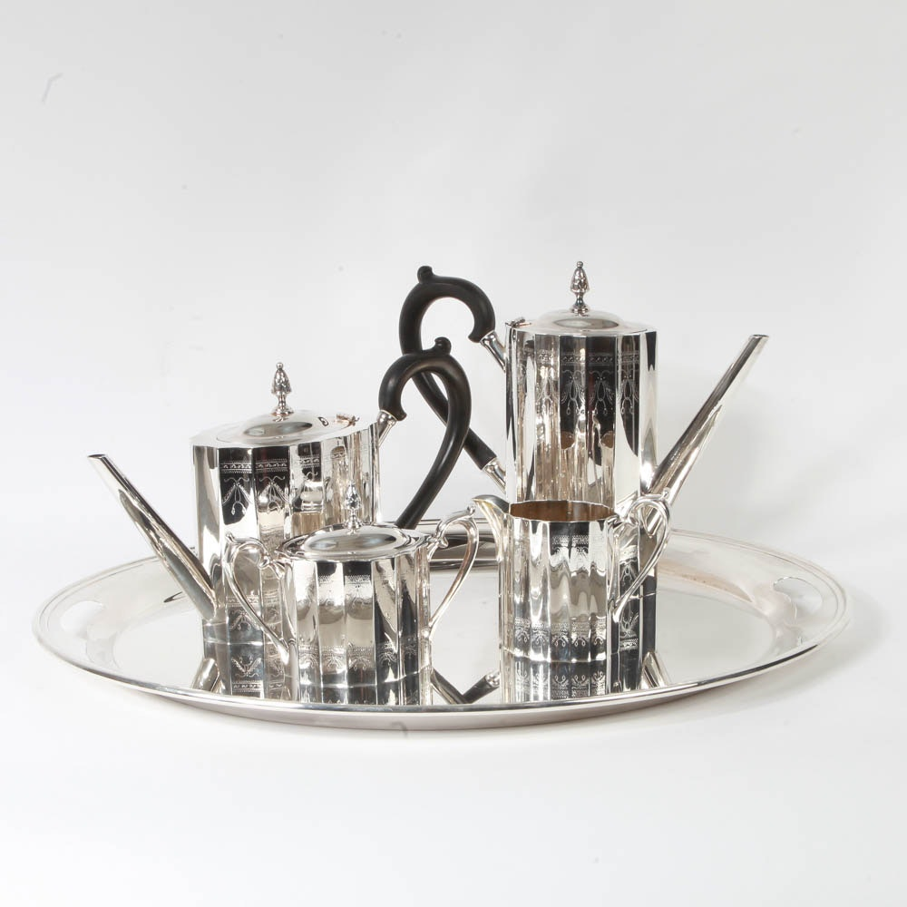 Lunt Silversmiths Silver Plated Tea and Coffee Service