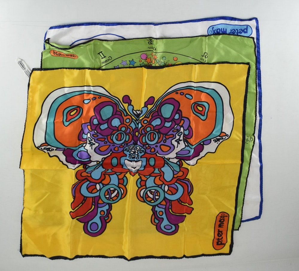 Peter Max Designed Scarves for Women