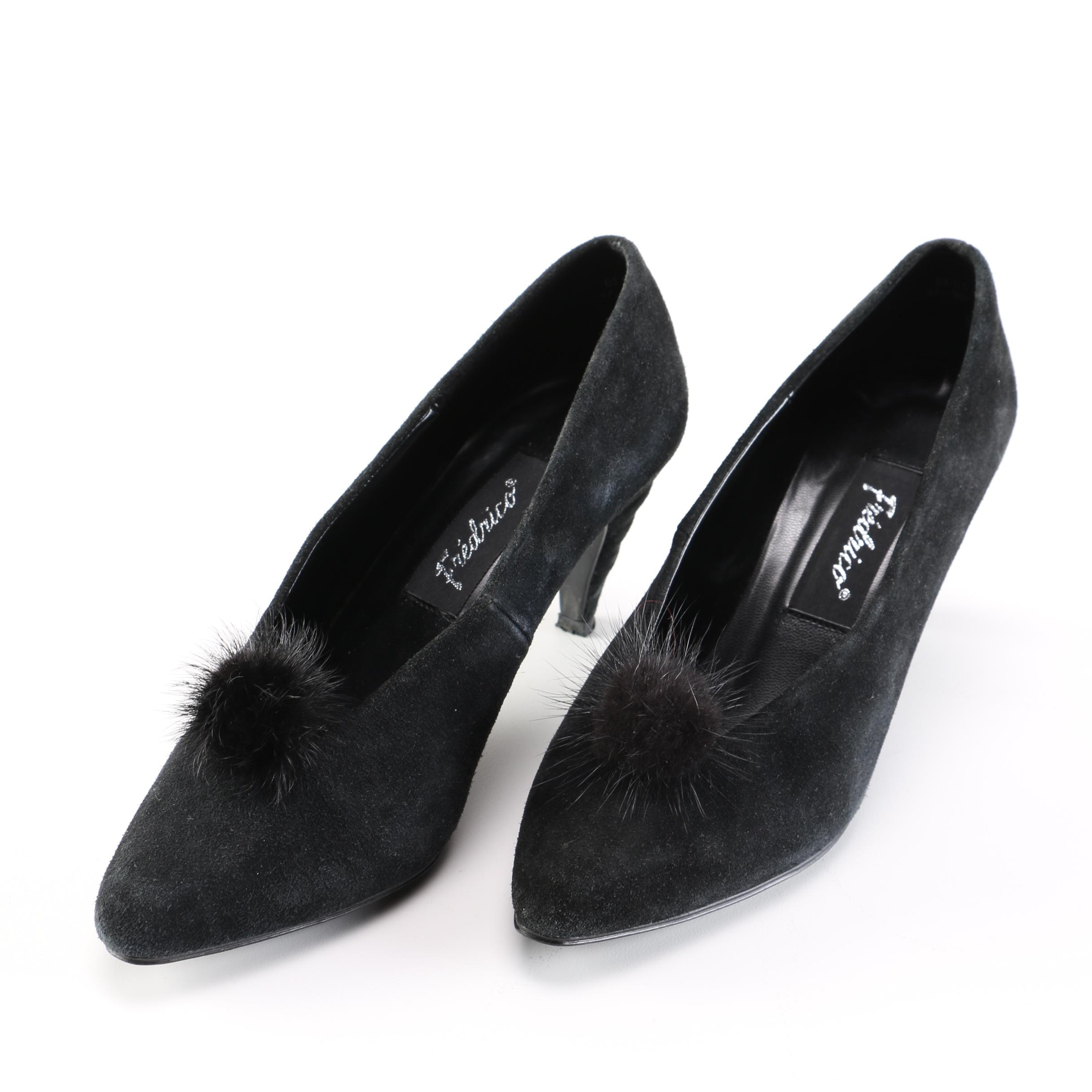 Fredrico Black Suede Pumps