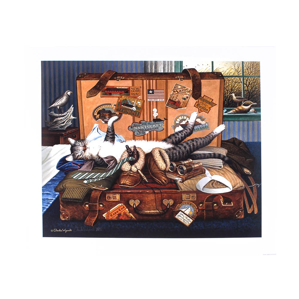 """""""Mabel the Stowaway"""" Unframed Offset Lithograph by Charles Wysocki"""