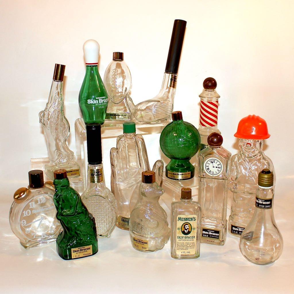 Mennen Glass Bottle Collection