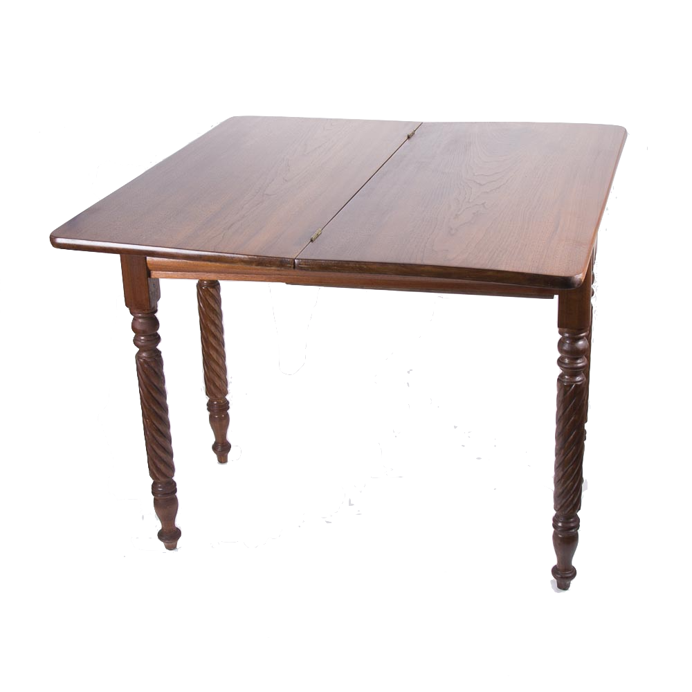 Vintage Walnut Flip Top Game Table