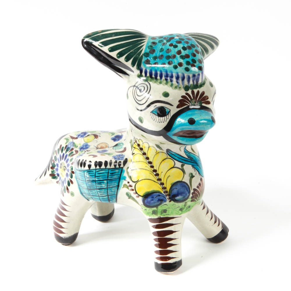 Vintage Tonala Pottery Donkey