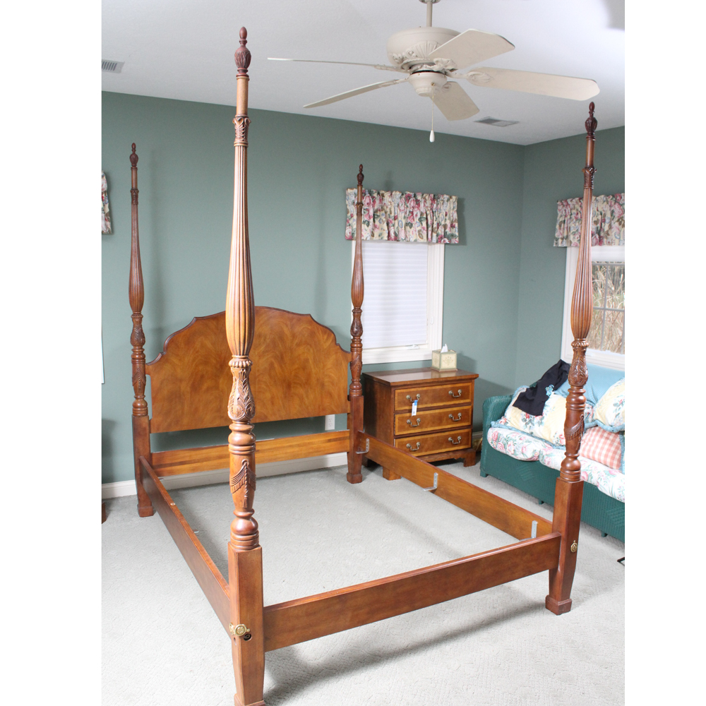 Henredon Wooden Four Post Bed EBTH