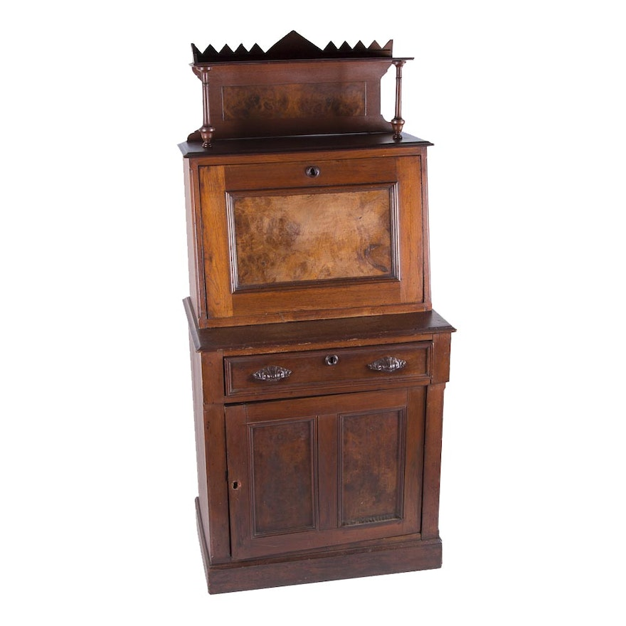 - Antique American Eastlake Drop-Front Secretary Desk : EBTH