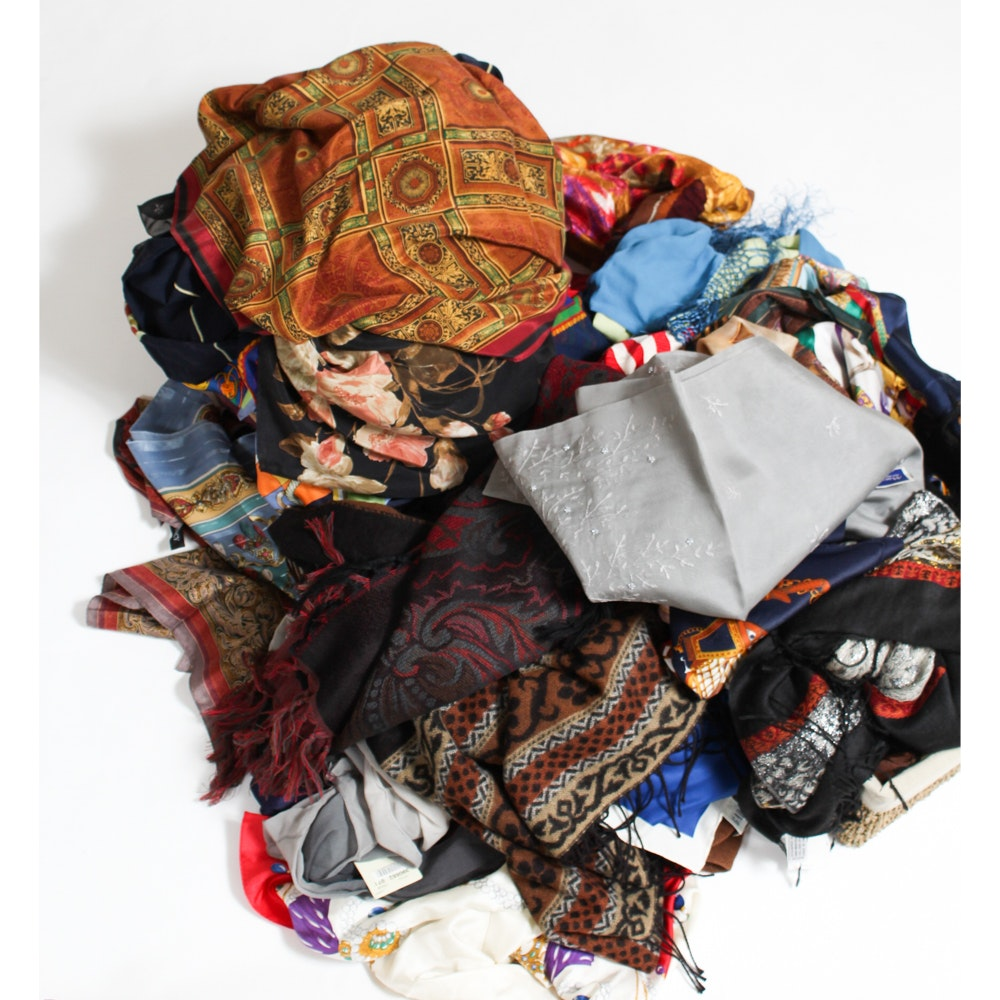 Generous Assortment of Belts and Scarves Featuring Ellen Tracy