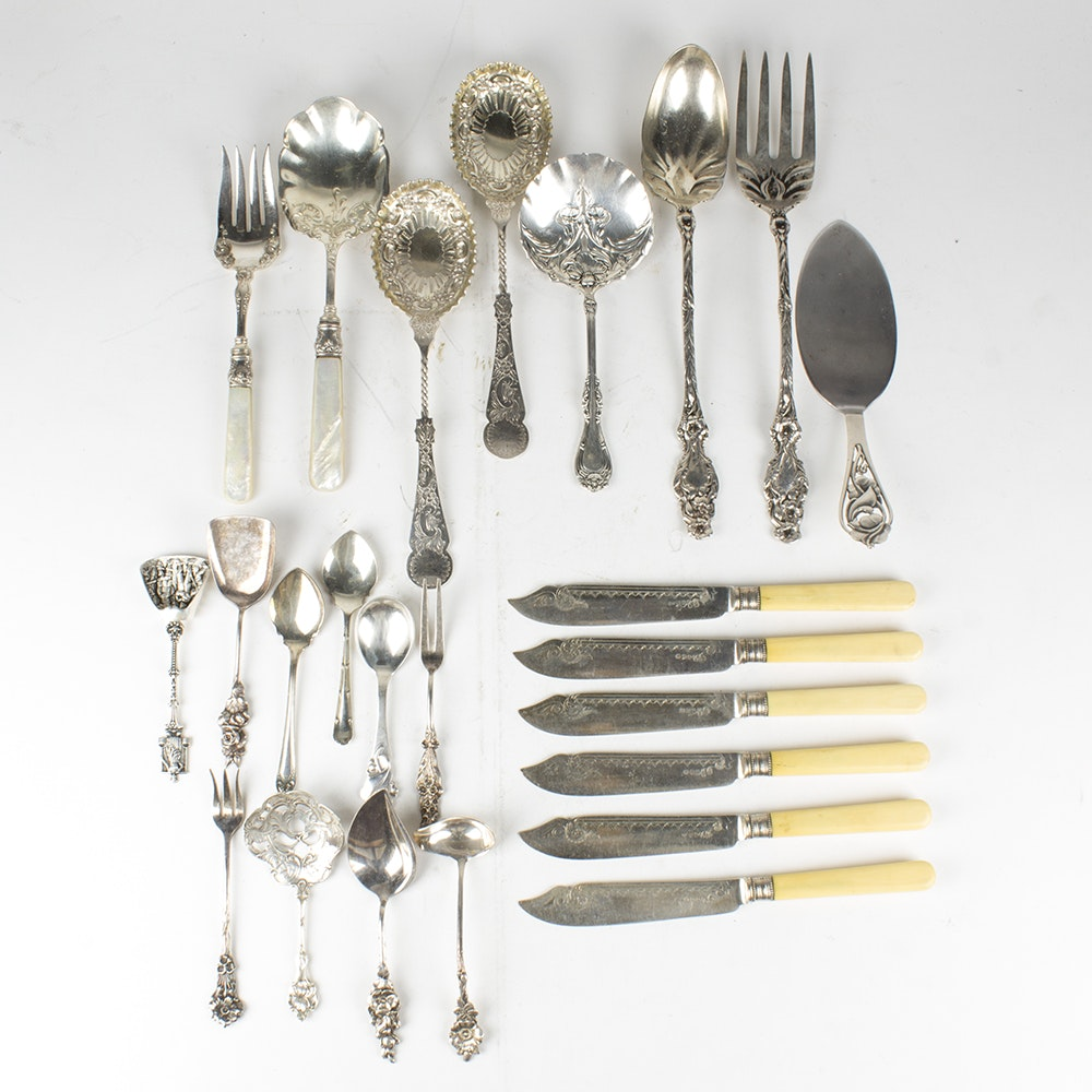Collection of Silver Plated Flatware Including Reed & Barton