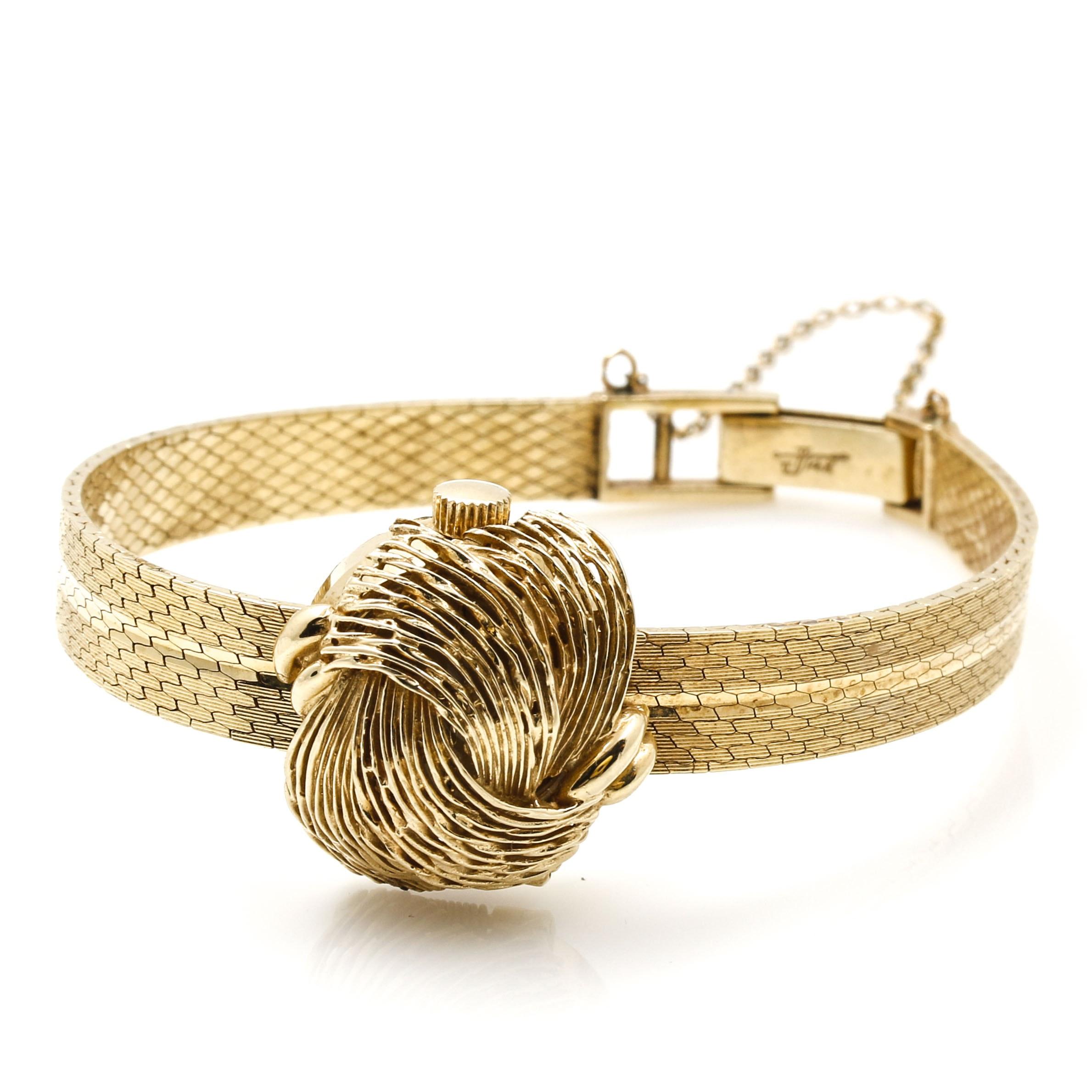 14K Yellow Gold Women's Croton Watch