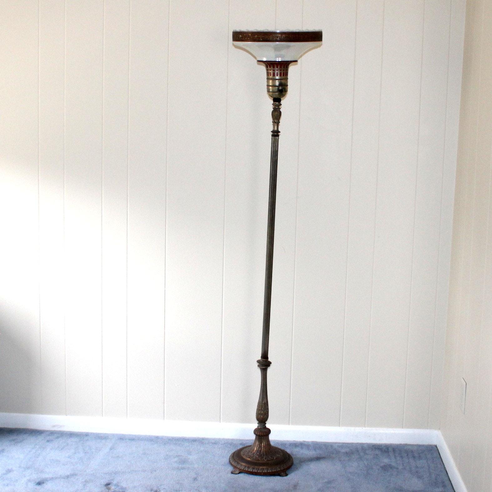 antique victorian torchiere lamp - Torchiere Lamp