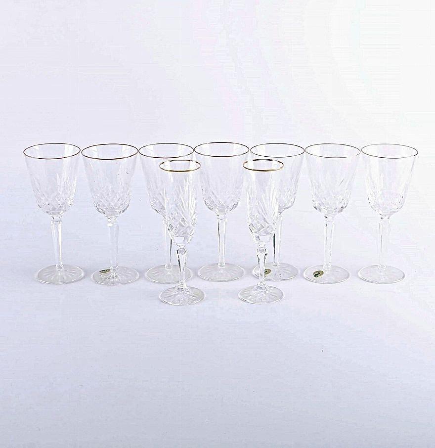 Waterford and Miller Rogaska Crystal Glasses