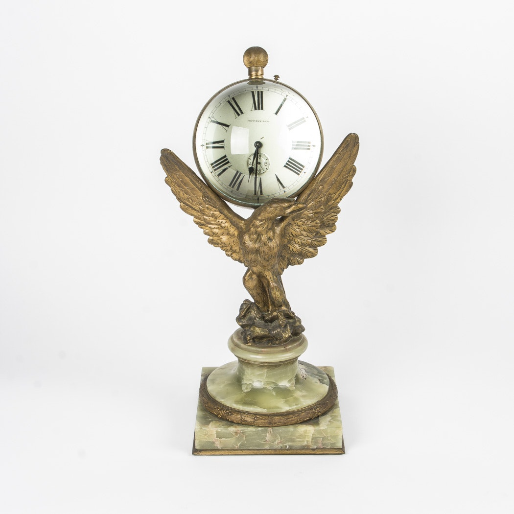 Vintage Tiffany & Co. Pedestal Clock