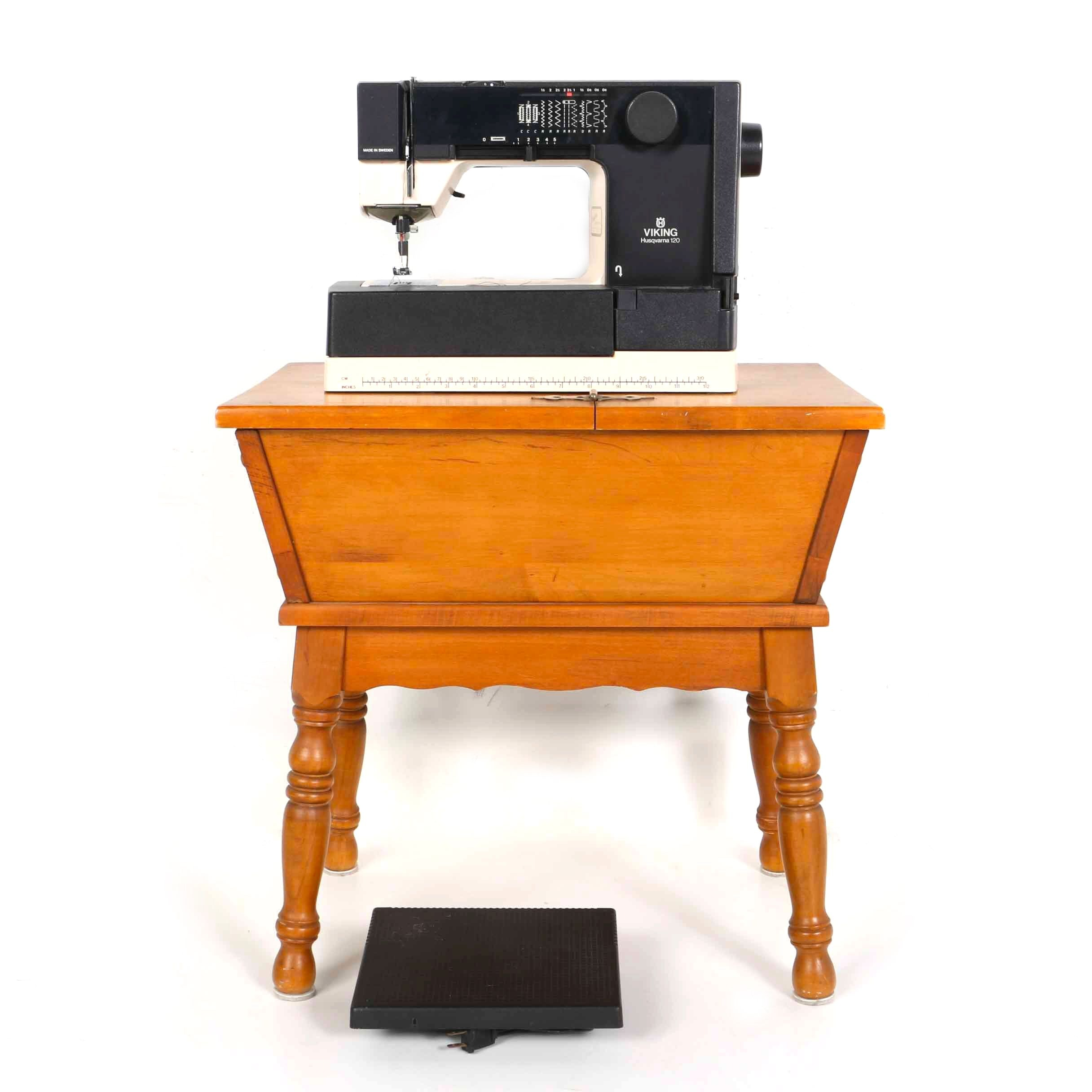 Viking Sewing Machine and Table
