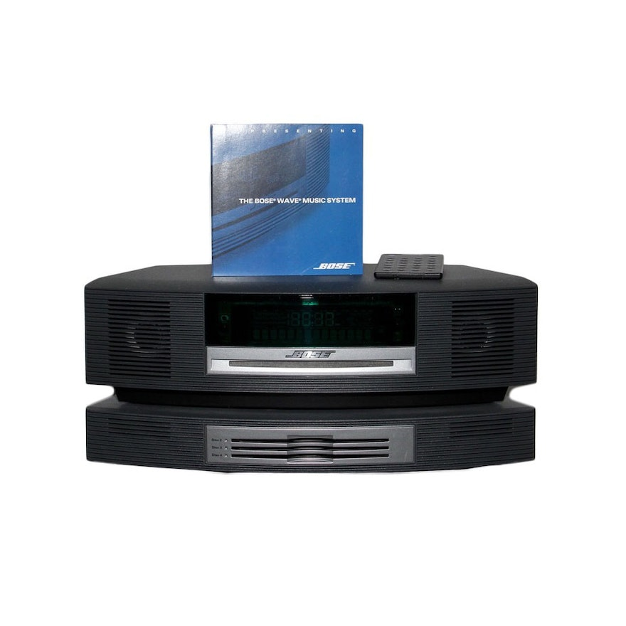 bose wave music system iii cd player and disc changer ebth. Black Bedroom Furniture Sets. Home Design Ideas