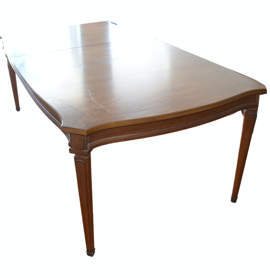 White Furniture Sheraton Style Teak Dining Table Ebth