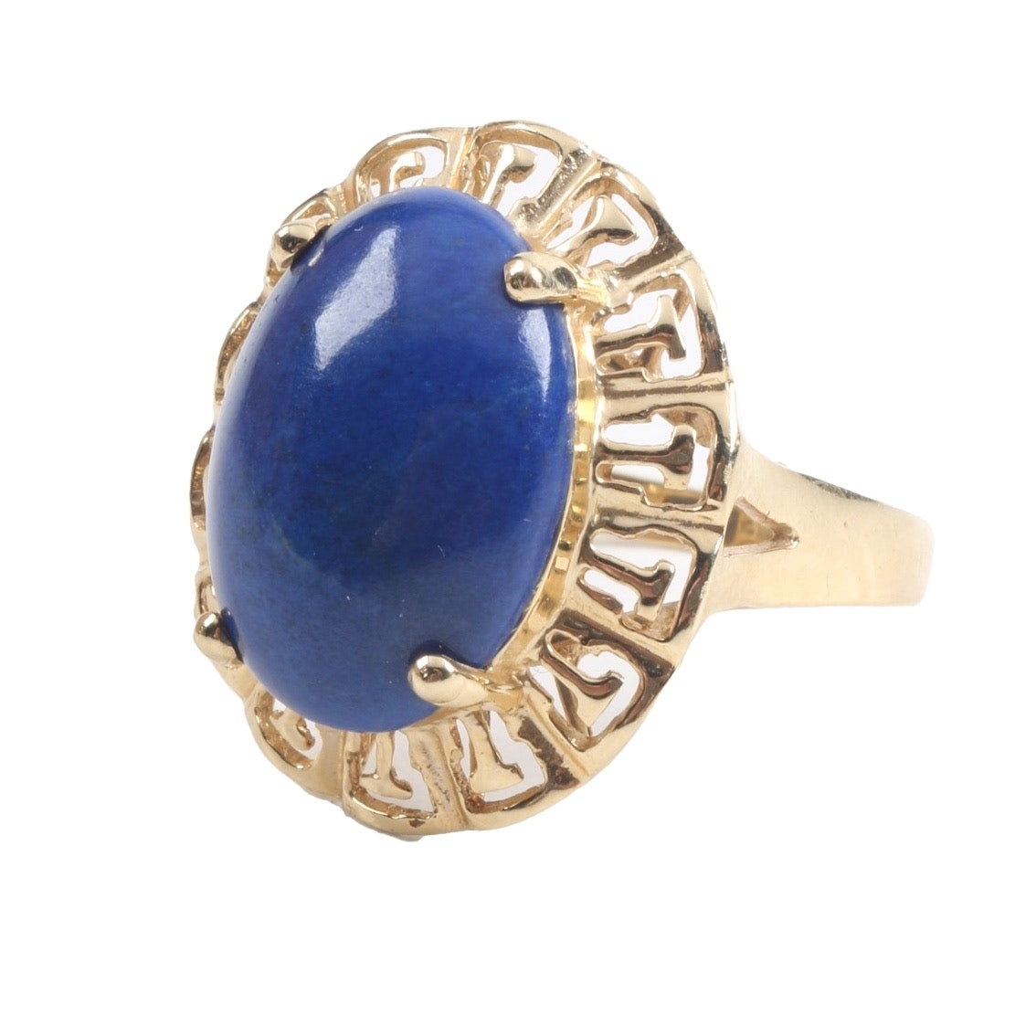 14K Yellow Gold and Lapis Lazuli Ring