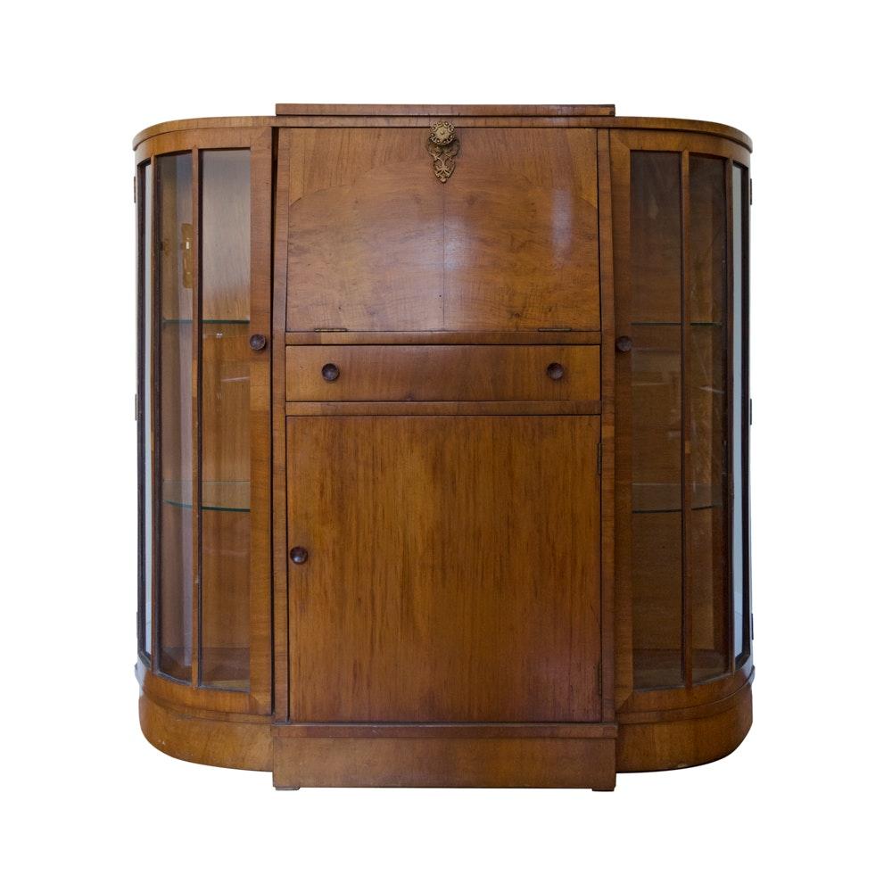 Art Deco Fall-Front Secretary Bookcase