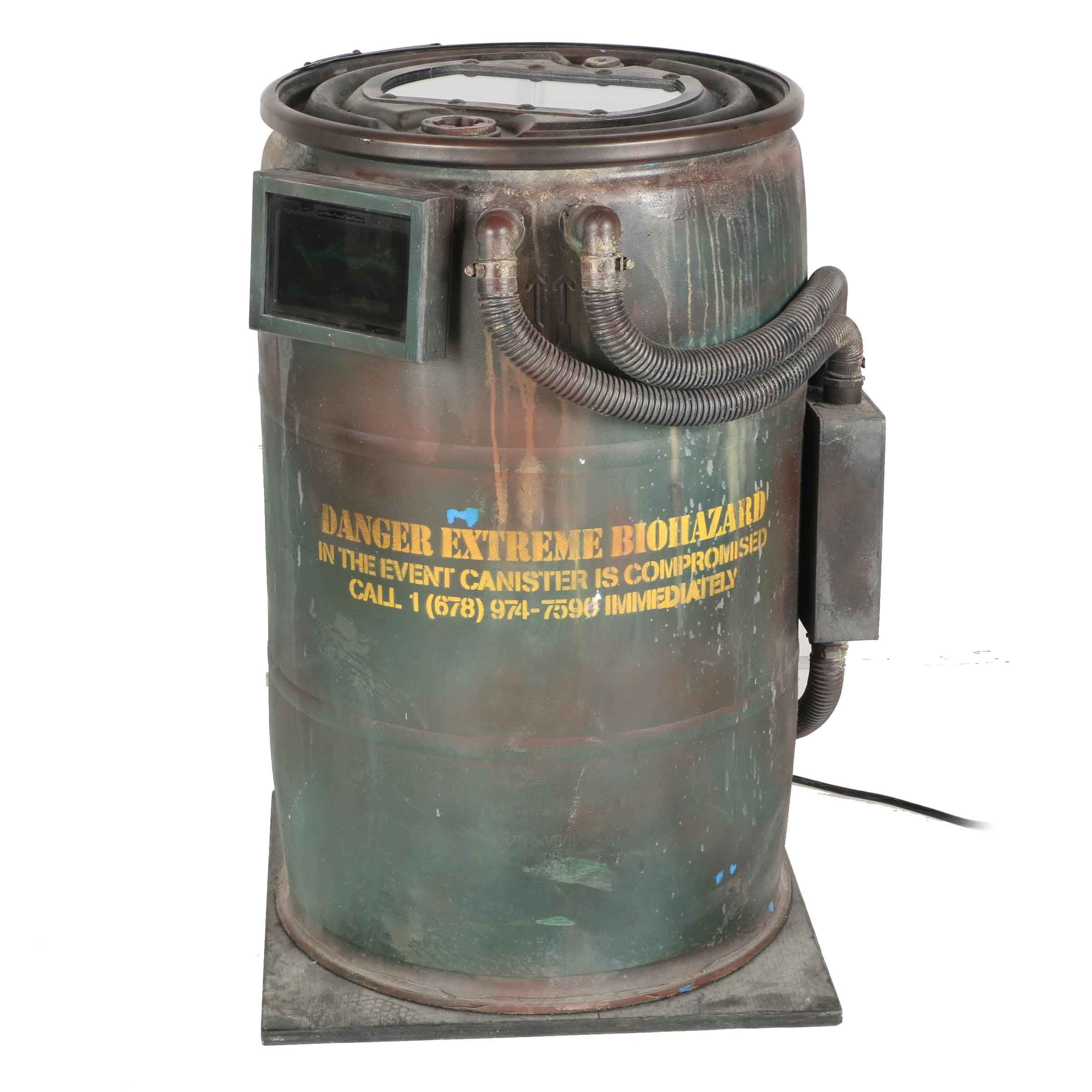 Electronic Zombie Barrel Prop