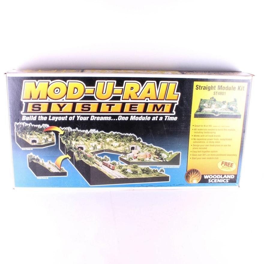 Mod-U-Rail System Straight Module Kit Model Train Scenery