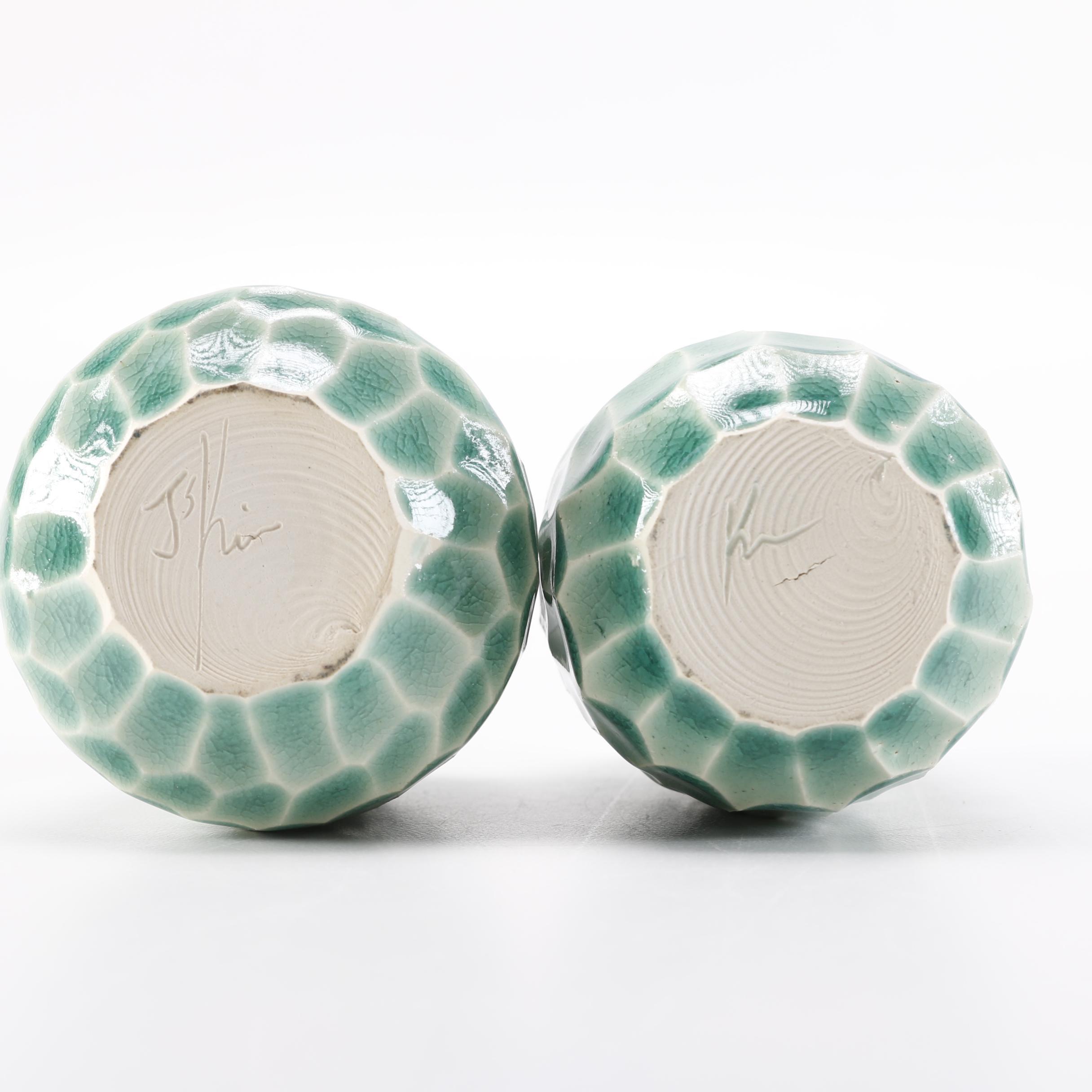 J S Kim Celadon Glazed Pottery Ebth