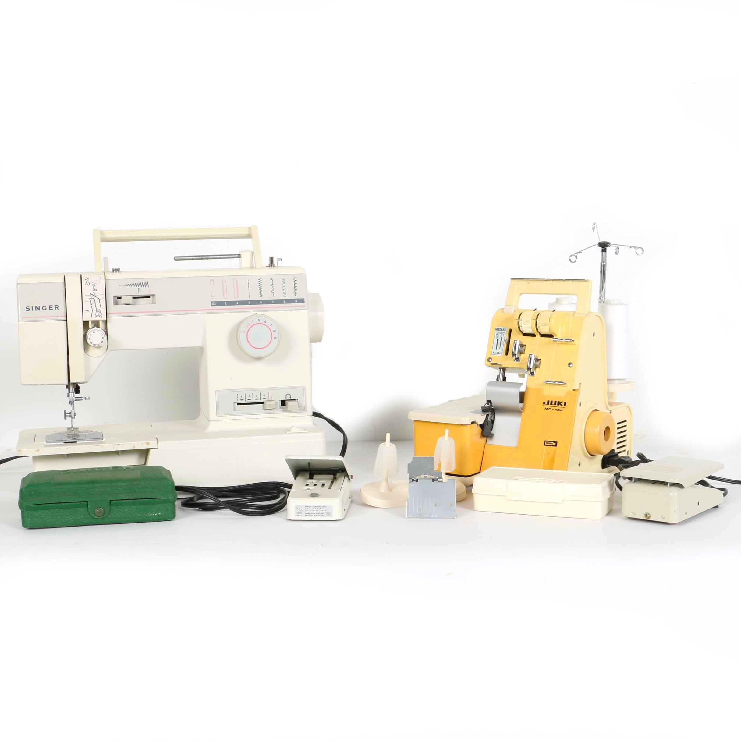 Singer and Juki Sewing Machines and Notions