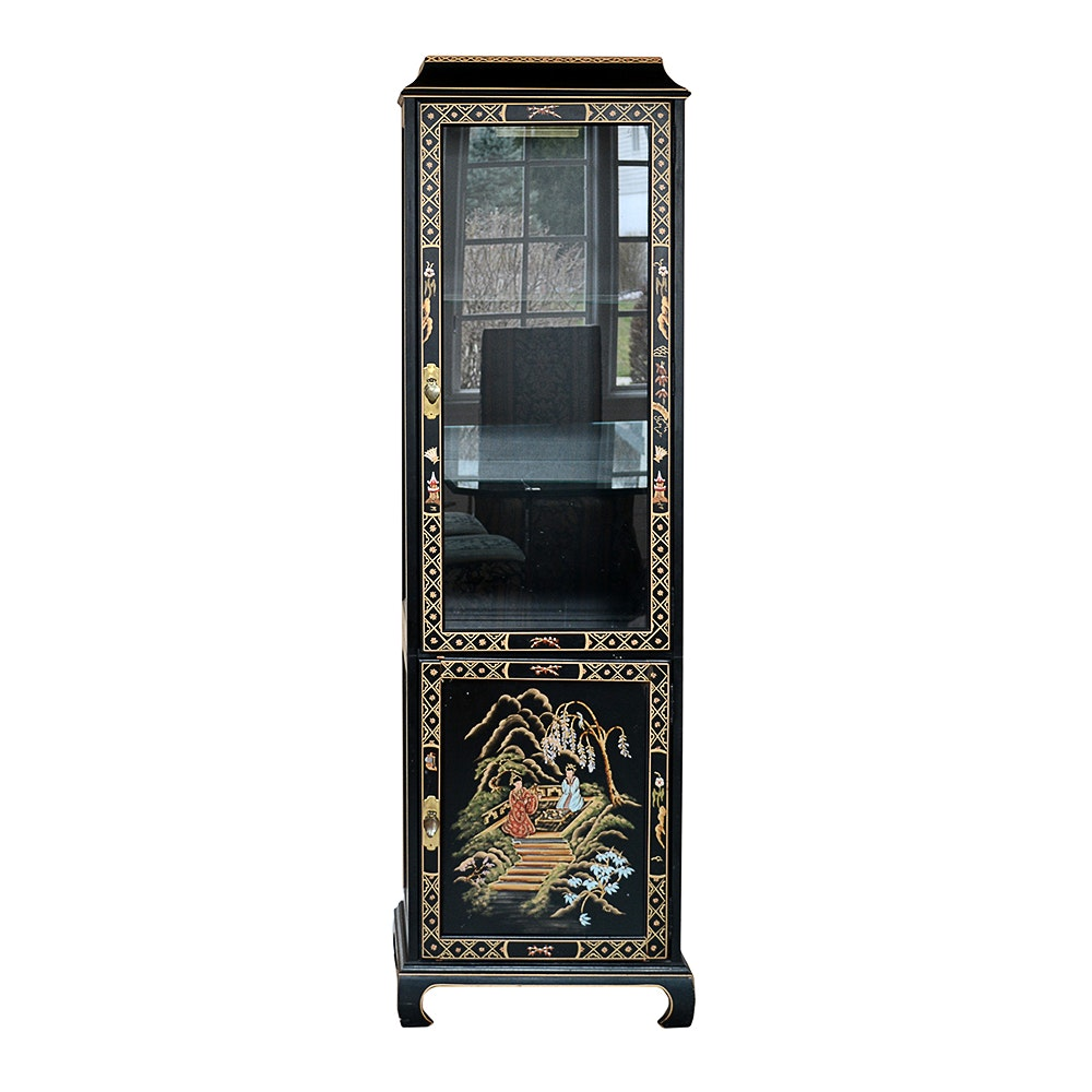 Merveilleux Chinoiserie Illuminated Display Cabinet By Jasper Cabinet Co.