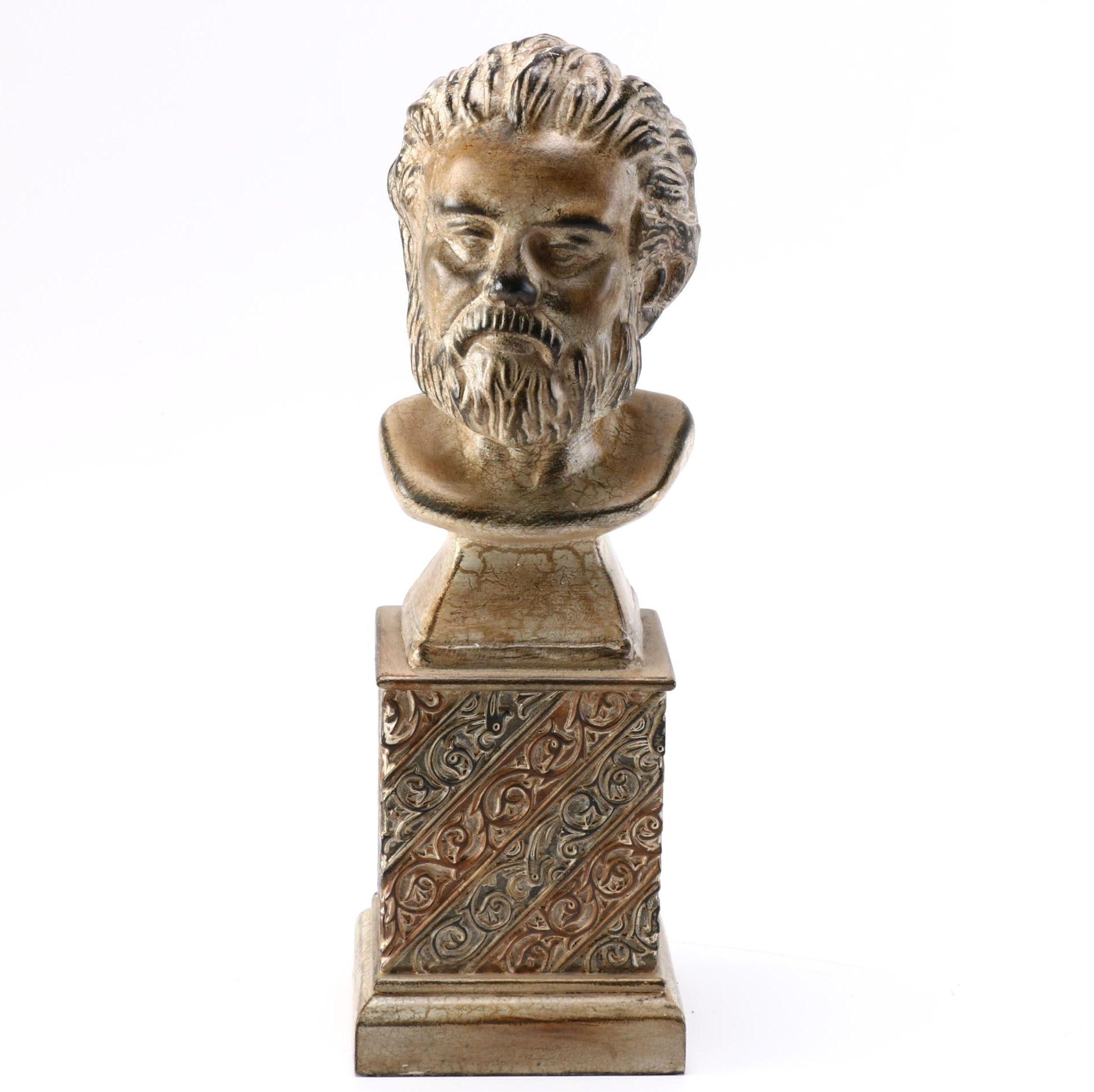 Male Bust Sculpture