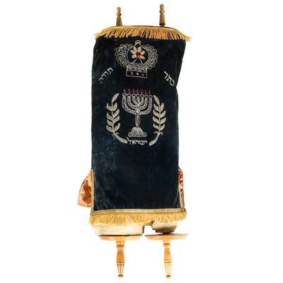 Early to Mid 20th Century Sefer Torah Scroll