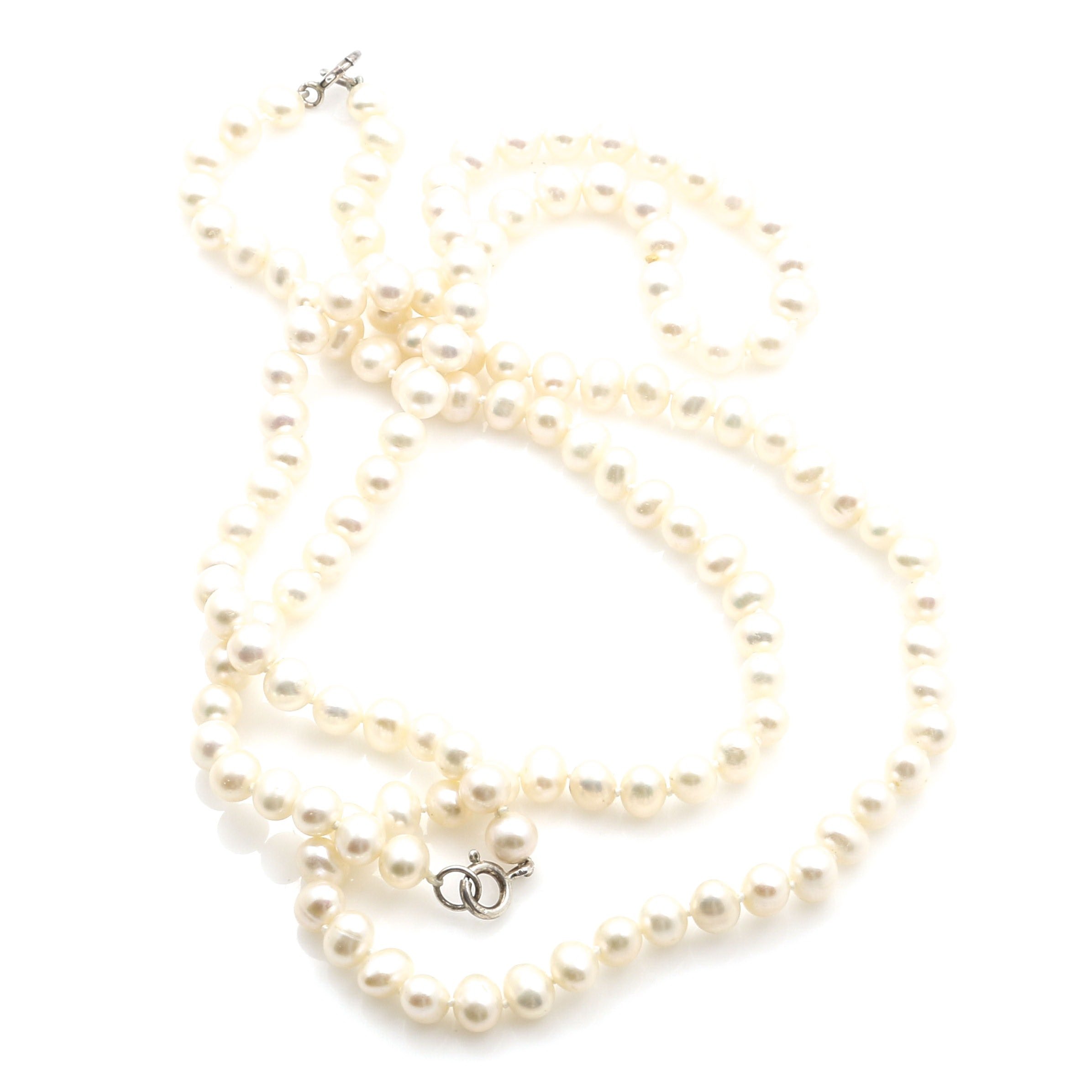 Sterling Silver Cultured Freshwater Pearl Necklaces