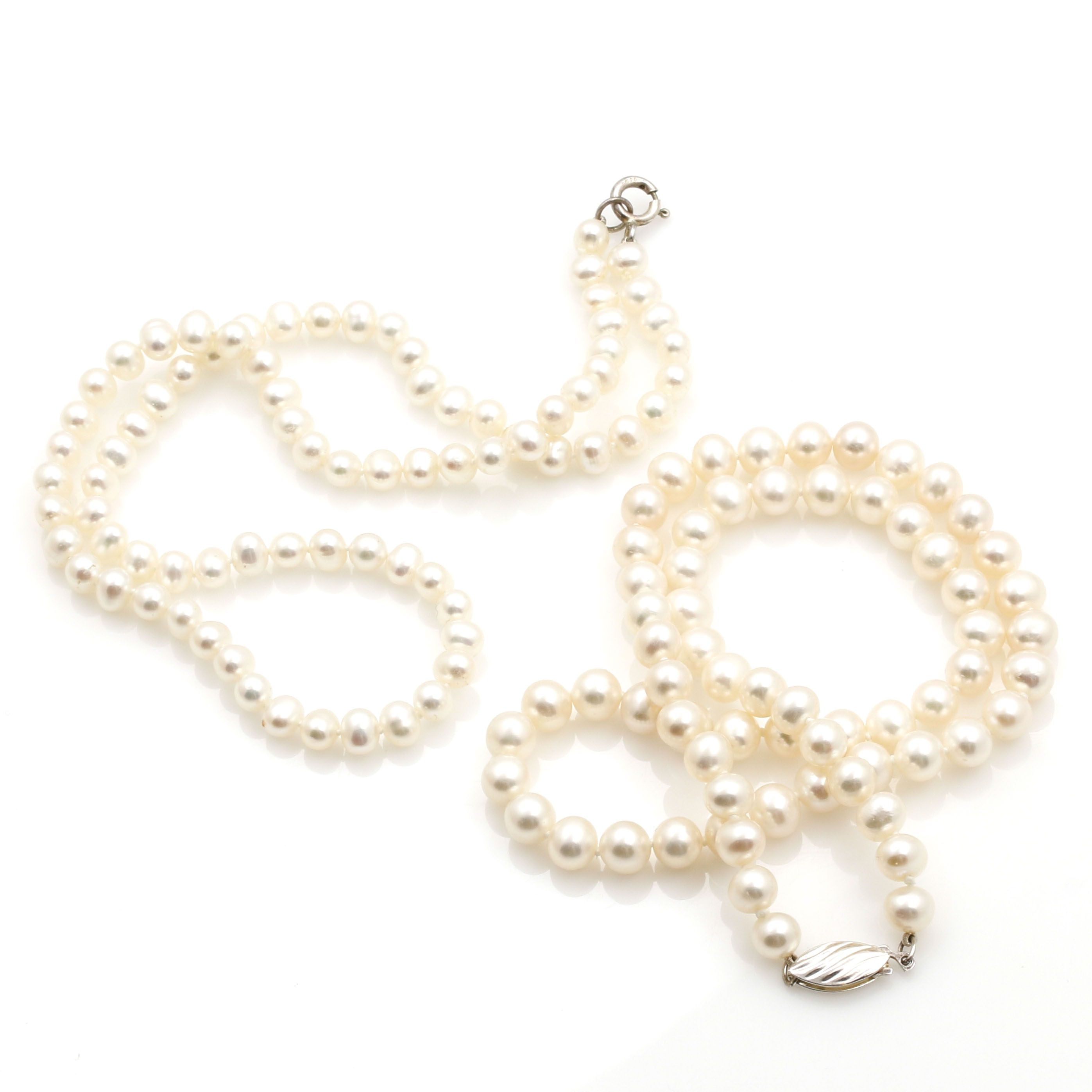 Sterling Silver Freshwater Cultured Pearl Necklaces