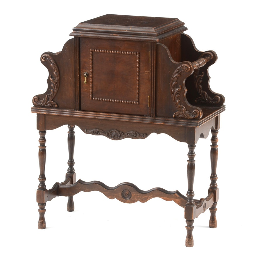 Vintage Humidor And Magazine Stand Ebth - Antique Humidor Cabinet Best 2000+ Antique Decor Ideas