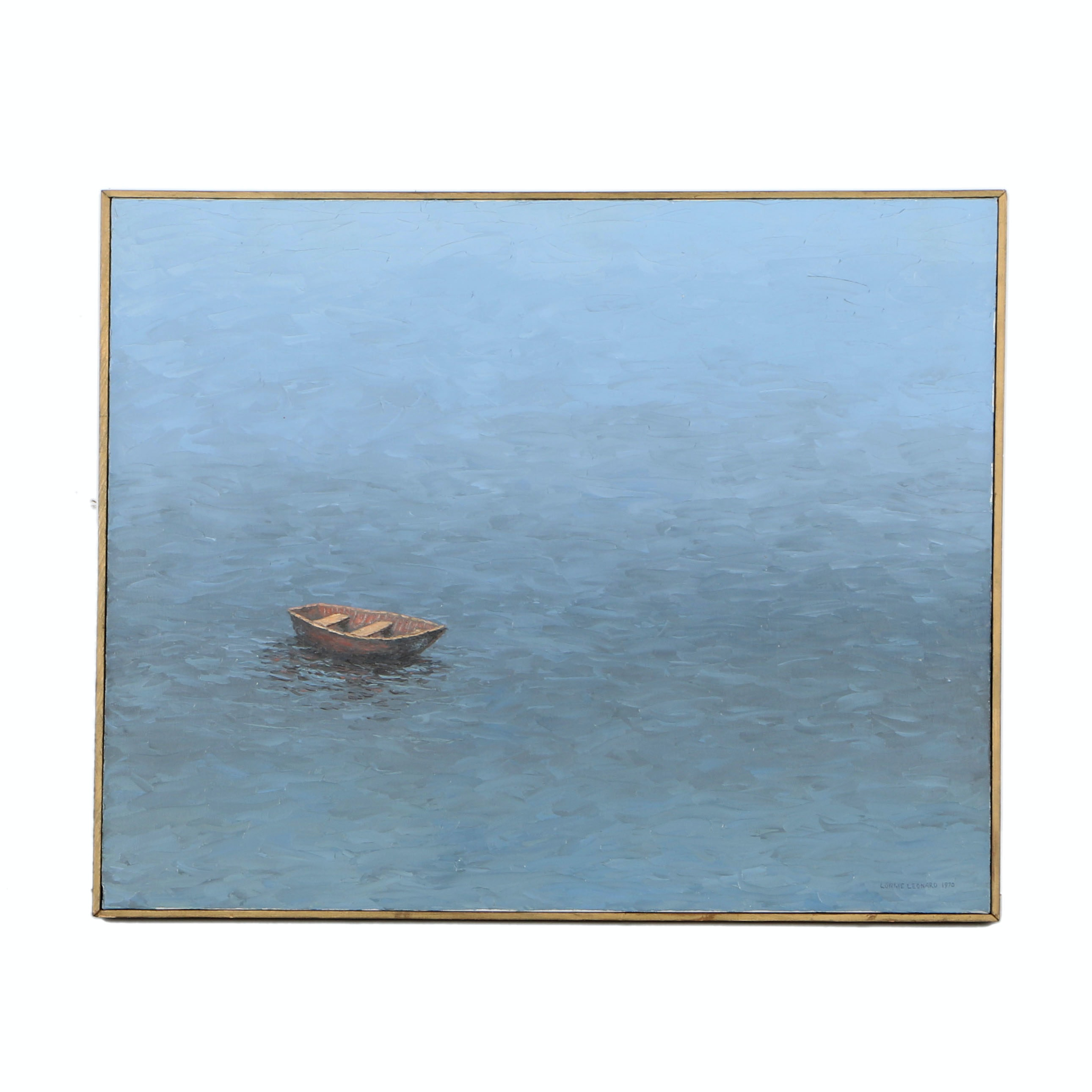 Lonnie Leonard Oil Painting on Canvas Seascape