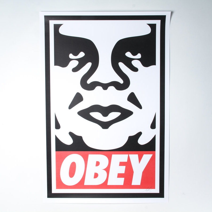 """Shepard Fairey Signed Giclée """"Obey"""""""