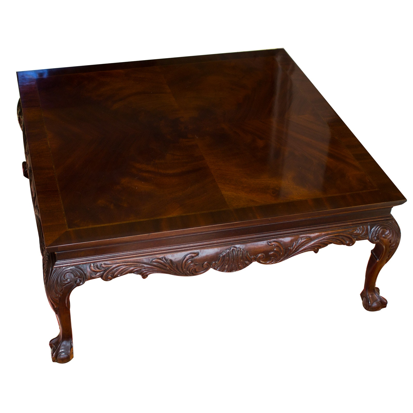 Beau Henredon Mahogany Coffee Table ...