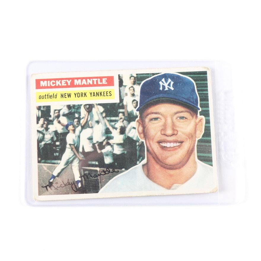 1956 Topps Mickey Mantle 135 Baseball Card