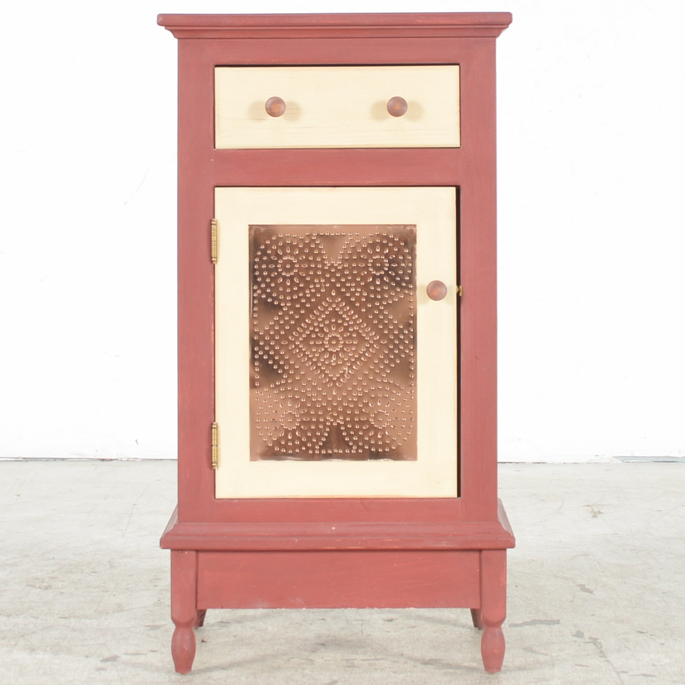 Red Painted Country Cabinet