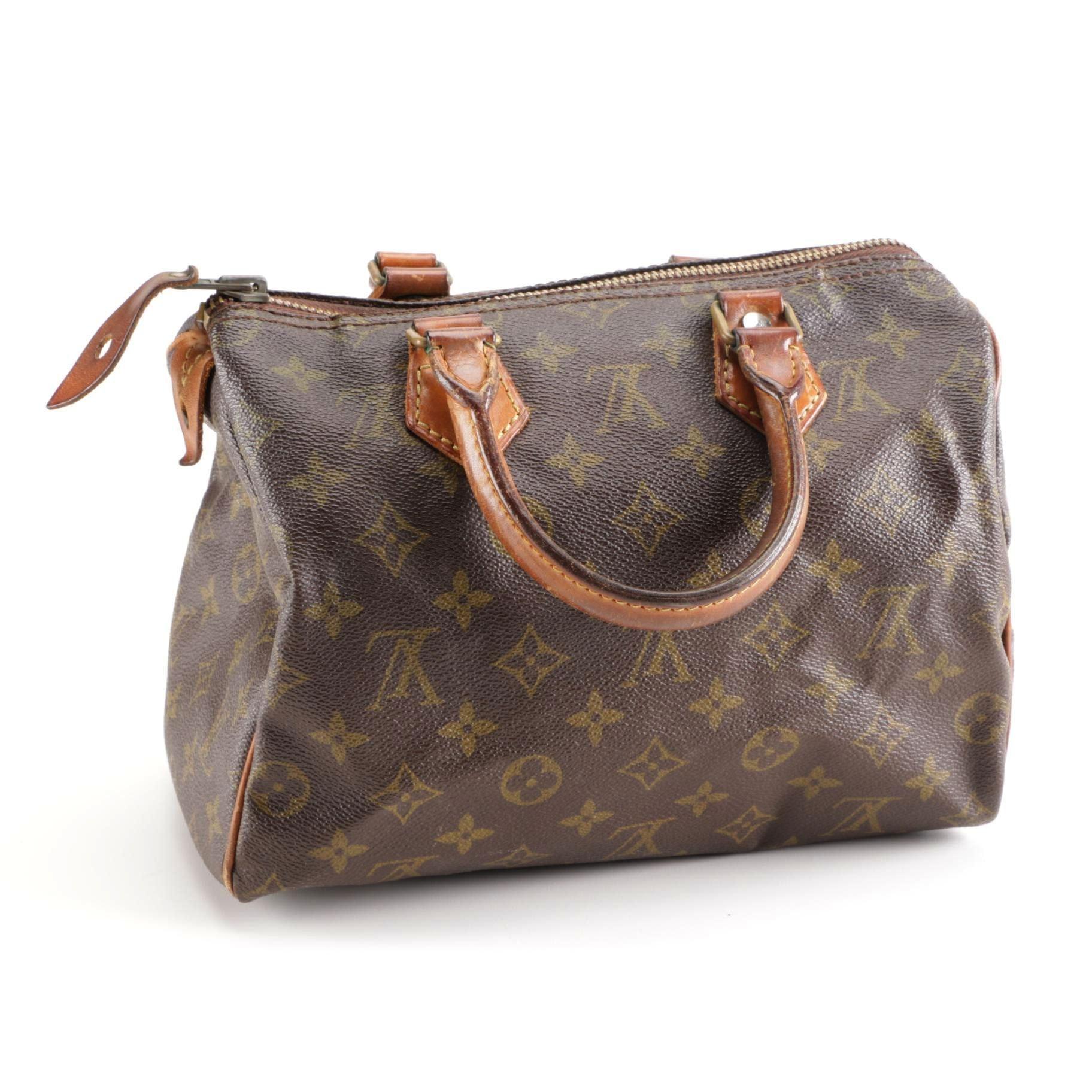 Louis Vuitton Monogrammed Canvas Speedy Handbag