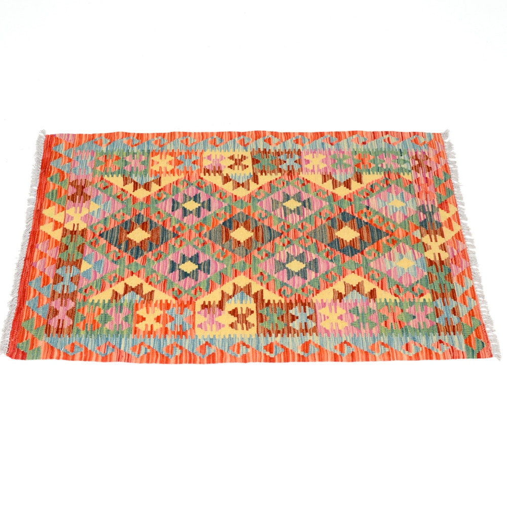 Hand Woven Turkish Abrashed Kilim