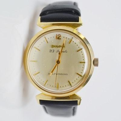 Bulova 14K Yellow Gold Men's Wristwatch