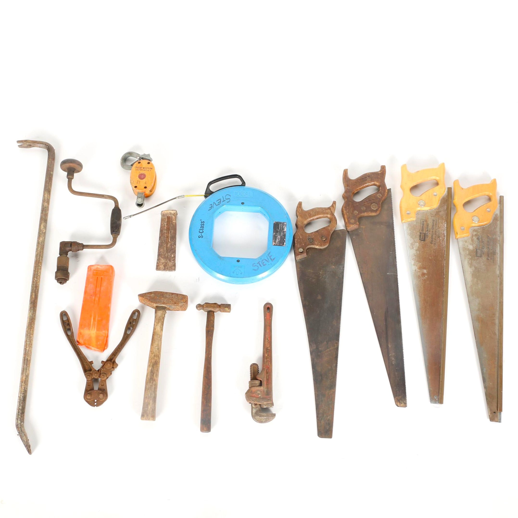 Assortment of Saws and Hand Tools