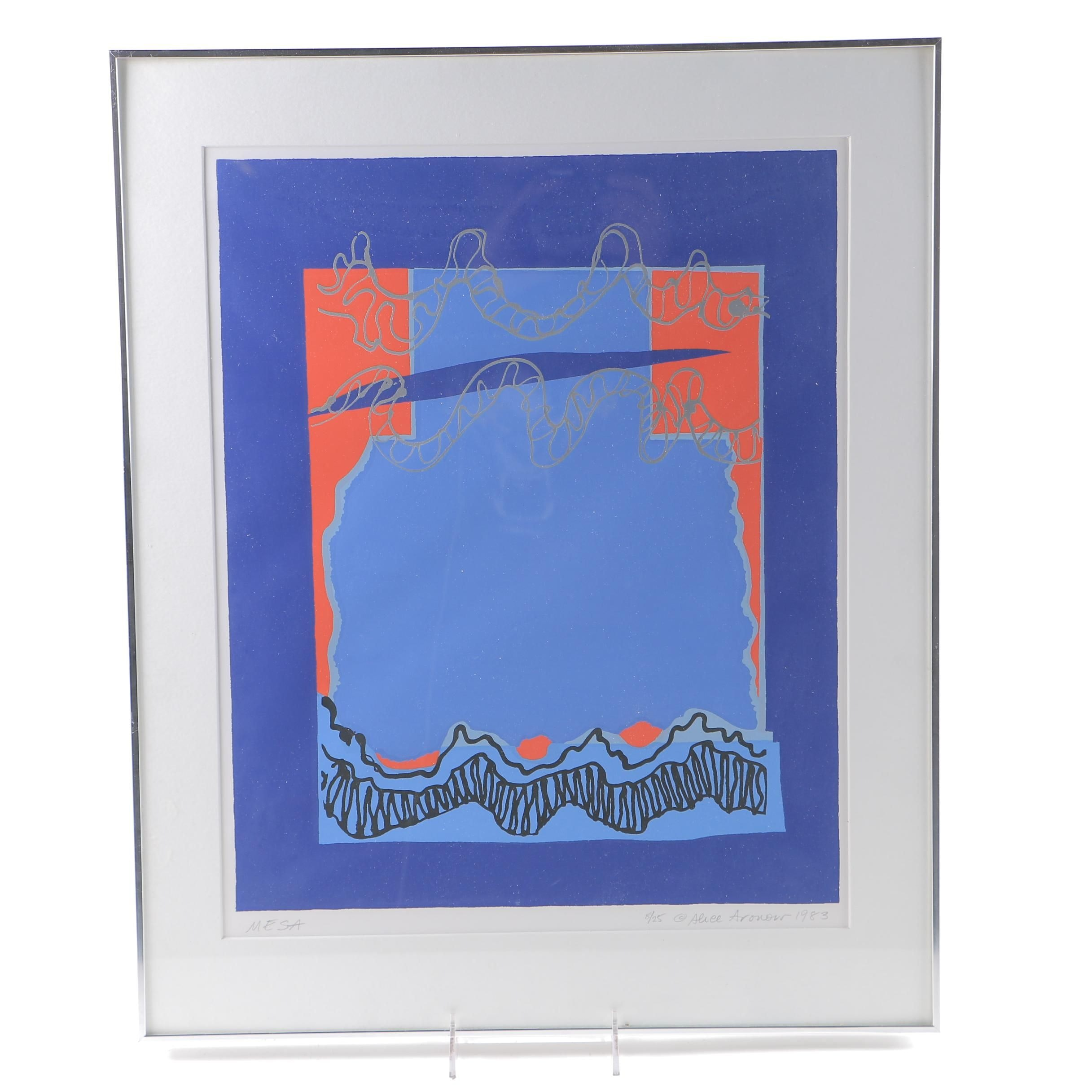"Alice Aronour Limited Edition Serigraph ""Mesa"""