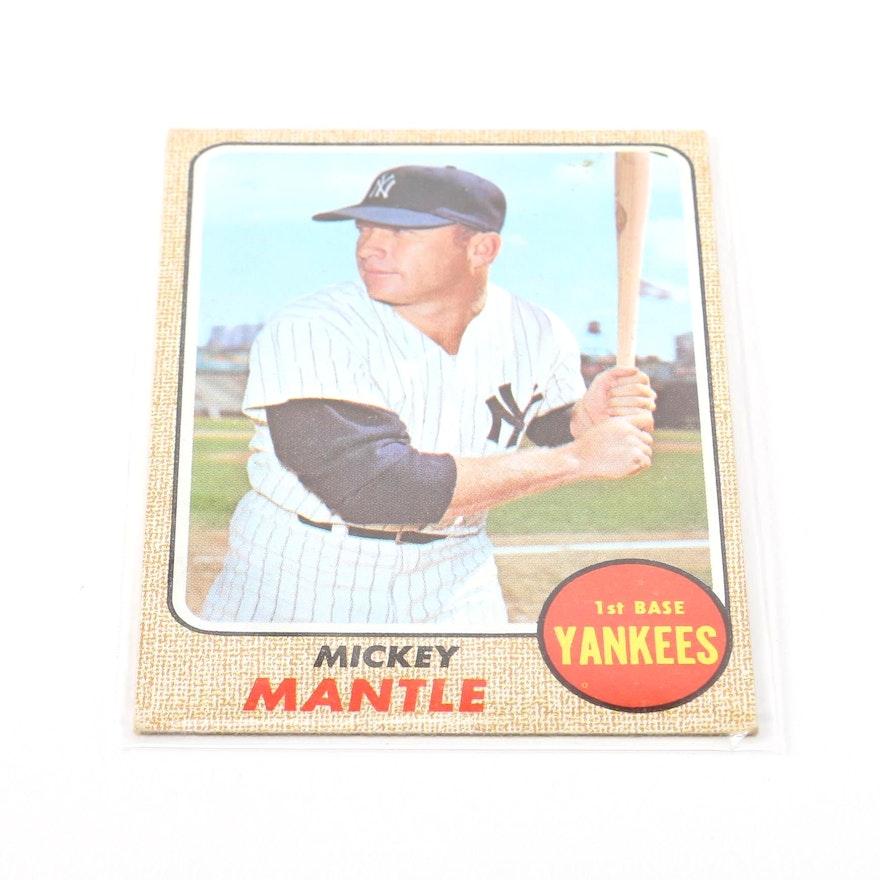 1968 Topps Mickey Mantle 280 Baseball Card