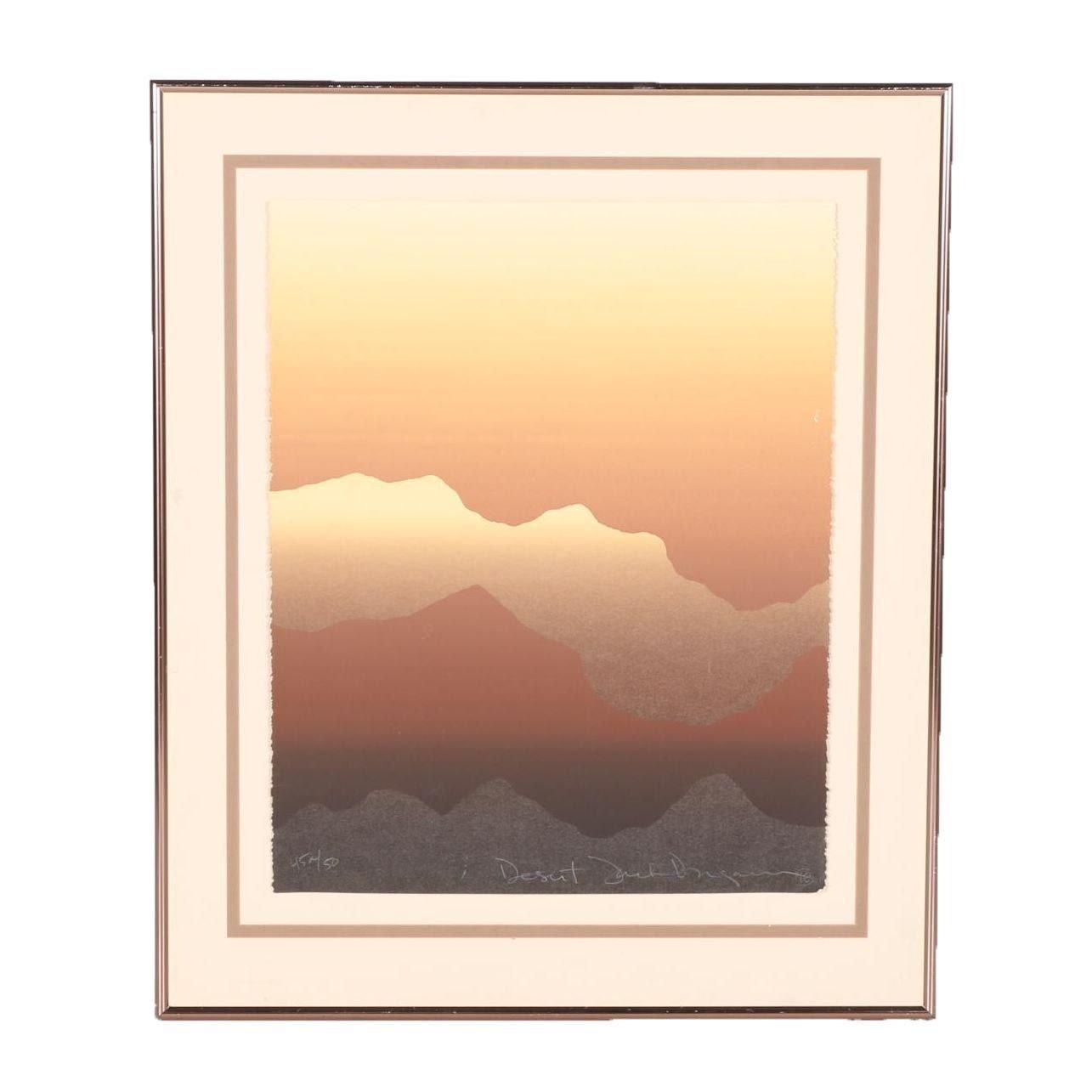 "Jack Dugan Limited Edition Serigraph ""Desert"""
