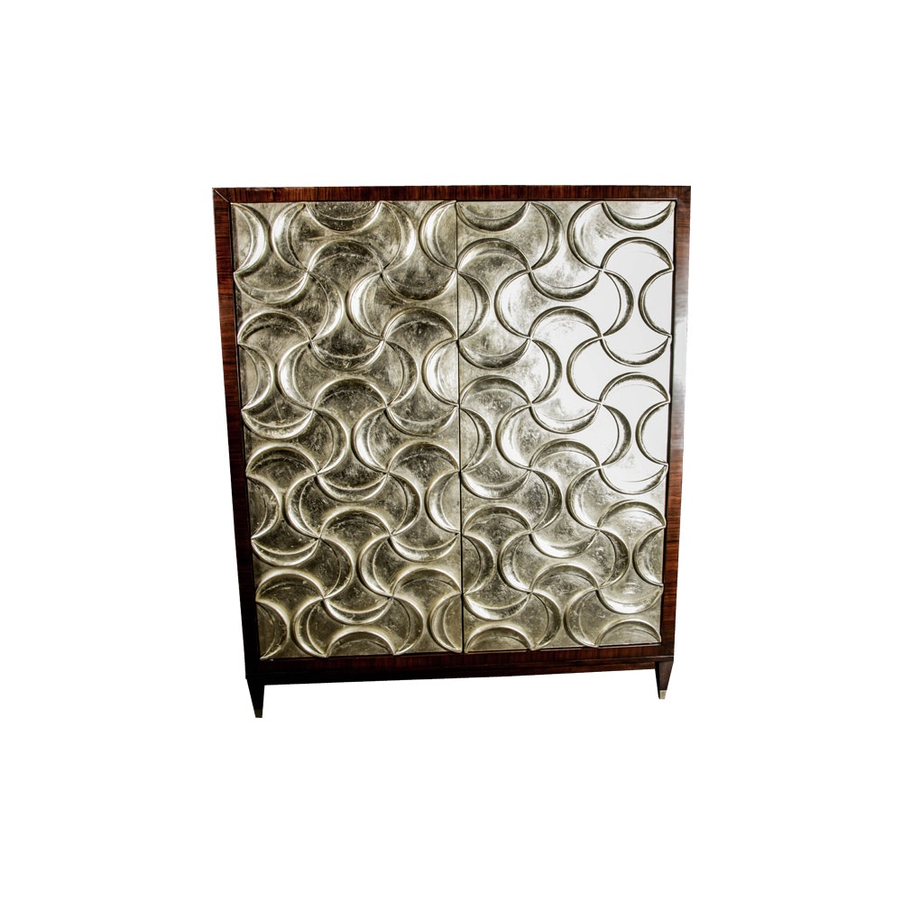 Art Deco Style Entertainment Armoire by Caracole