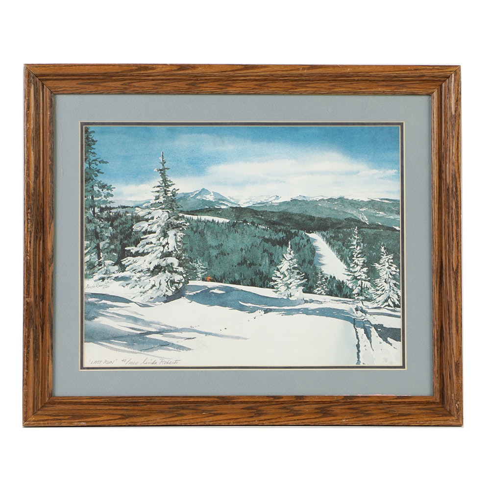 """Linda Roberts Limited Edition Offset Lithograph """"Last Run"""""""