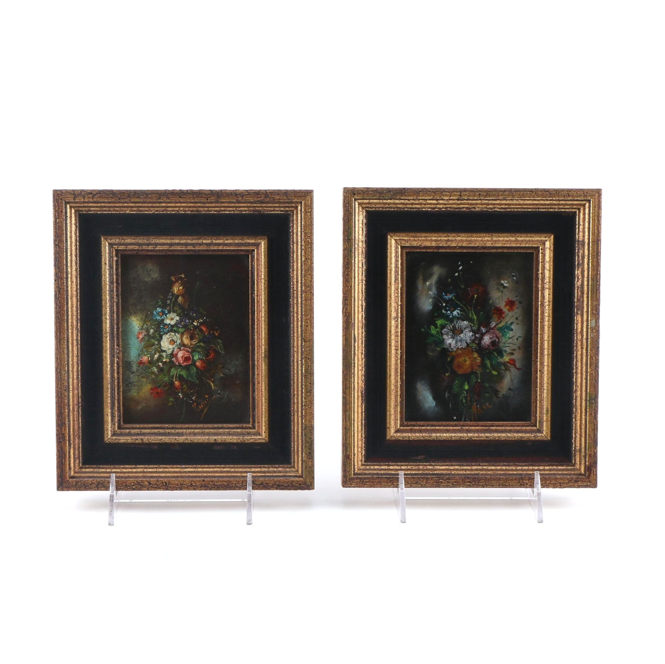 Original Oil Painting on Board Floral Still Lifes
