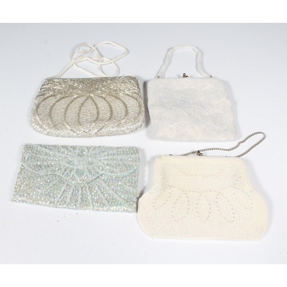 Vintage White Beaded Handbags