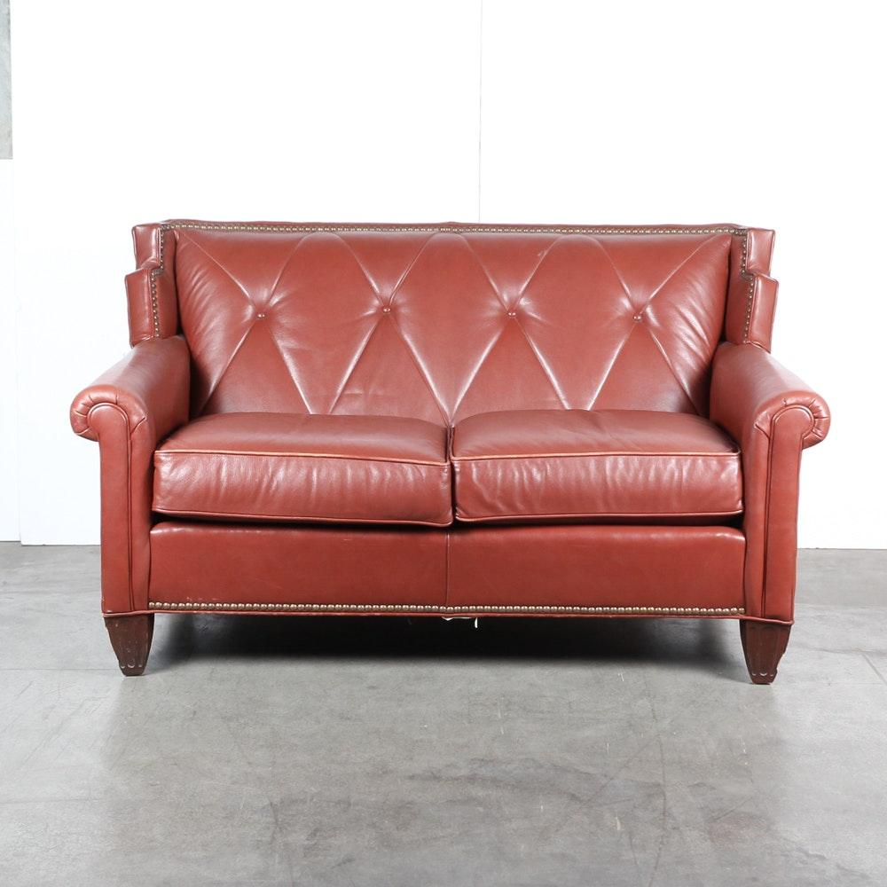 "Century ""La Grange"" Leather Loveseat"