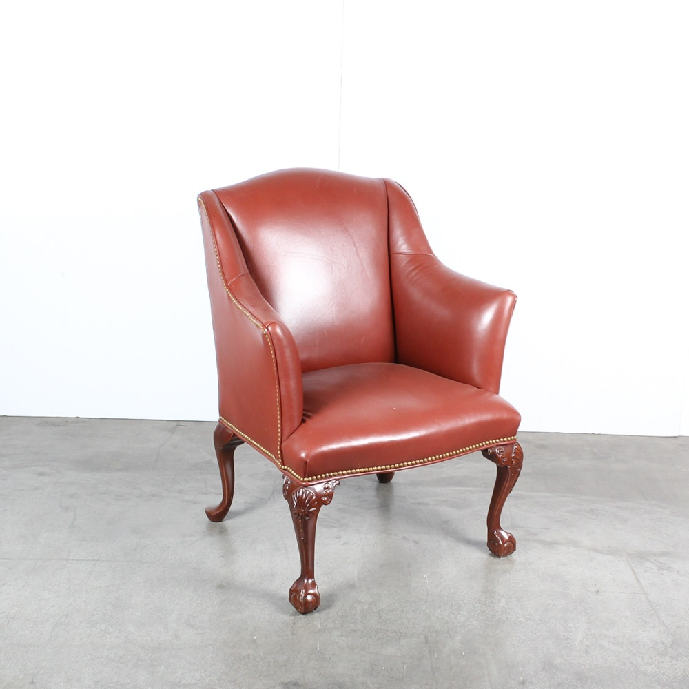 Leather Club Chair by Southwood