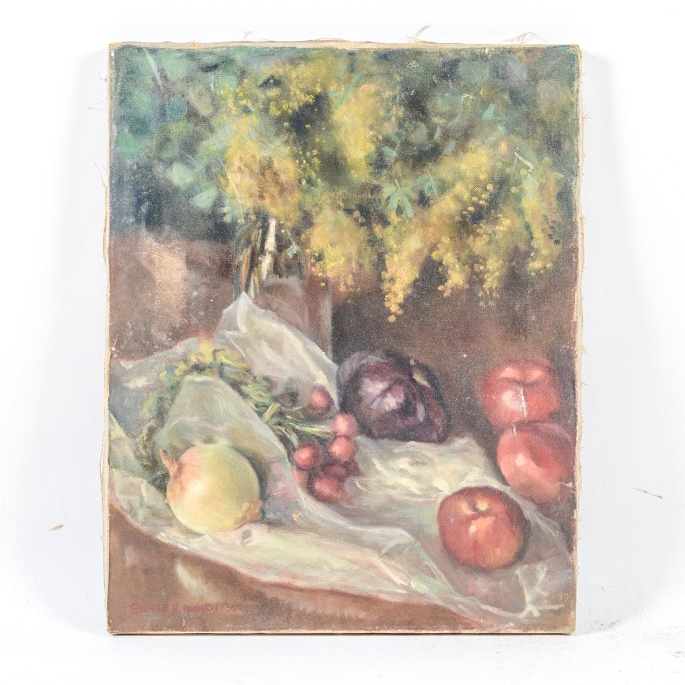 Susan S. Robinson Oil on Canvas Still Life